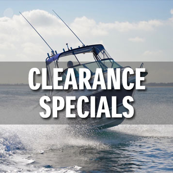 New boat clearance specials
