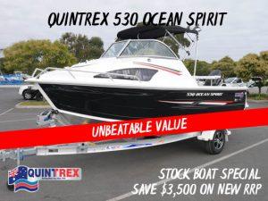Quintrex 530 Ocean Spirit Super Special New boats